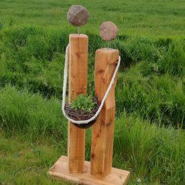 Holz Skulptur – Liebespaar